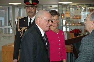 Gordon Barnhart - Gordon and Naomi Barnhart attend a community event for the Monarchist League of Canada in their first year as Saskatchewan's vice-regal couple, 2006.