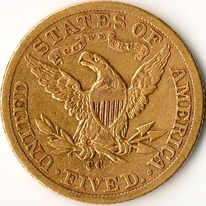 Carson City Mint - Image: Liberty Half Eagle Reverse