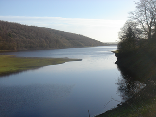 Lindley Wood Reservoir lake in the United Kingdom
