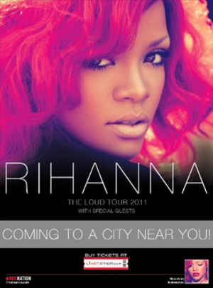 Loud Tour - Promotional poster for the tour