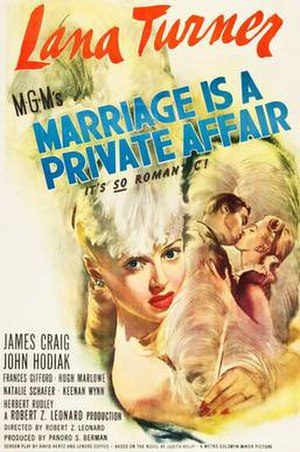Marriage Is a Private Affair - Image: Marriage is a Private Affair