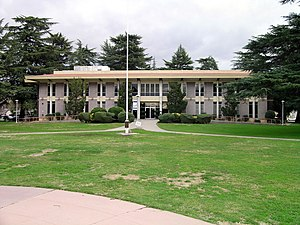 Modesto Junior College - The Morris Building houses administration departments.