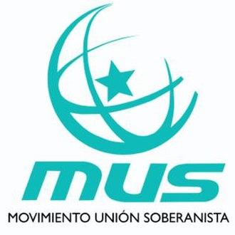 Movimiento Unión Soberanista - MUS logo.