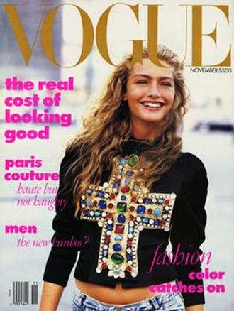 Anna Wintour - Image: November 1988 Vogue cover