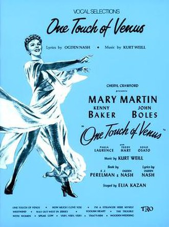 One Touch of Venus - Sheet Music Cover