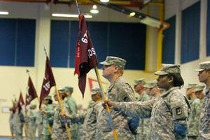 62nd Medical Brigade (United States) - 62nd soldiers at parade rest