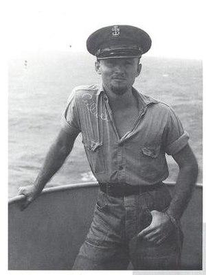 Ben Culwell - Photograph taken of Ben Culwell during his World War II service aboard the USS Pensacola