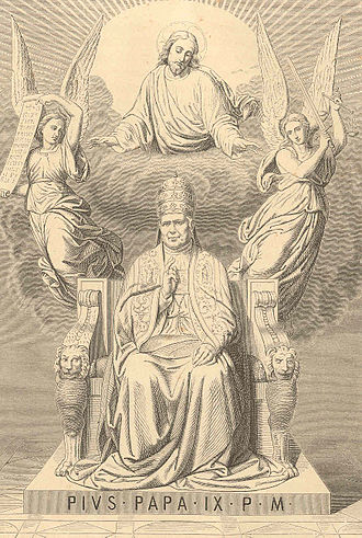 Papal States under Pope Pius IX - An hagiographic presentation of Pius IX from 1873