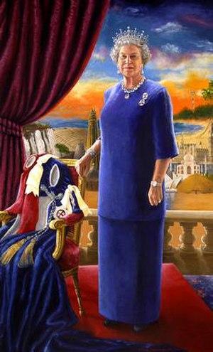 Chinwe Chukwuogo-Roy - Golden Jubilee Portrait of Queen Elizabeth II