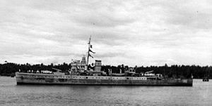 Royal Indian Navy mutiny - HMIS ''Hindustan'' at Bombay Harbour after the war.