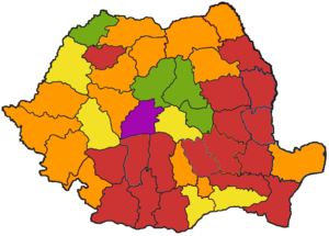 Romanian local elections, 2008 - Image: Romania counties map 2008 local election