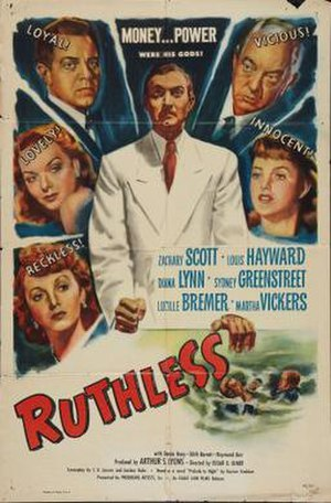 Ruthless (film) - Theatrical release poster
