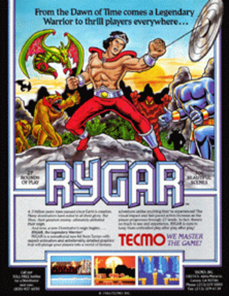 Rygar - North American flyer for the arcade game.