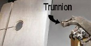 Trunnion - Trunnion positions saw table and provides a pivot point.