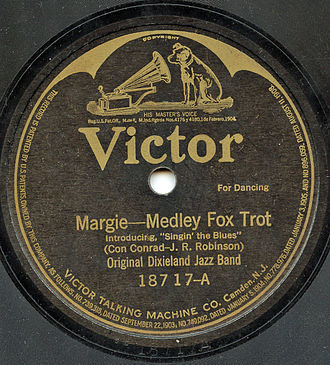 Singin' the Blues (1920 song) - 1920 78 release by the ODJB on Victor as 18717A.