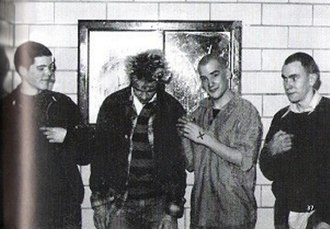 Skewbald/Grand Union (EP) - Skewbald/Grand Union in 1981. From left to right are Eddie Janney, John Falls, Ian MacKaye, and Jeff Nelson.