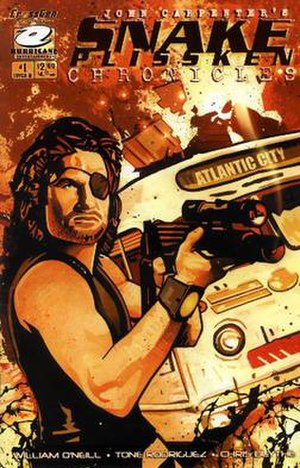 Snake Plissken - Cover of John Carpenter's Snake Plissken Chronicles.
