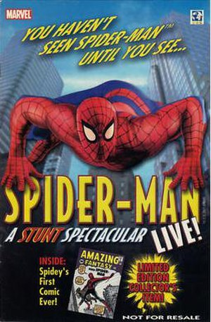 Spider-Man Live! - Promotional poster for the show.