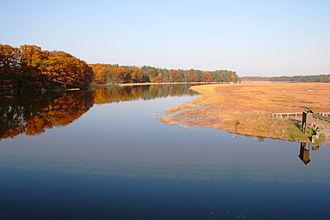 Squamscott River - Squamscott River in fall 2005, Route 108, Newfields, New Hampshire