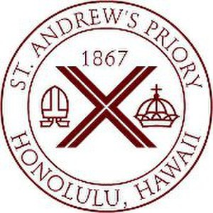 St. Andrew's Priory School - Image: Standrewspriorylogo