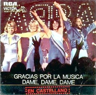 Gimme! Gimme! Gimme! (A Man After Midnight) - Image: Thank You for the Music (Spanish release)