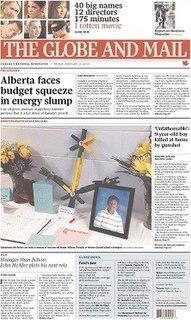 <i>The Globe and Mail</i> Canadian newspaper