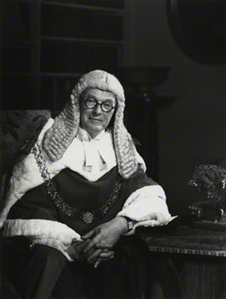 Hubert Parker, Baron Parker of Waddington - 1968 photograph, by Godfrey Argent
