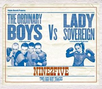 9 to 5 (Lady Sovereign song) - Image: The Ordinary Boys Vs. Lady Sovereign Nine 2Five (CD & Vinyl 1)