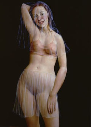 John Currin - The Veil, oil on canvas by John Currin