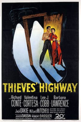 Thieves' Highway - Theatrical release poster