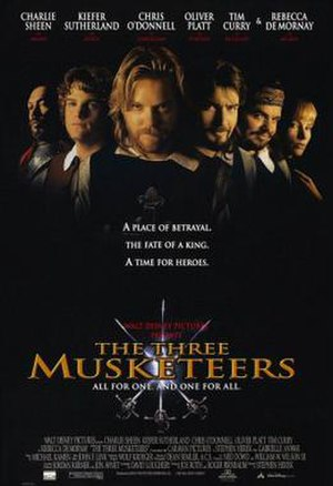 The Three Musketeers (1993 film) - Promotional film poster by John Alvin.