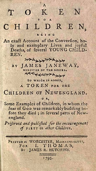 James Janeway - The title page of A Token For Children in 1795.