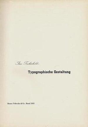 Jan Tschichold - Image: Typo Gestaltung