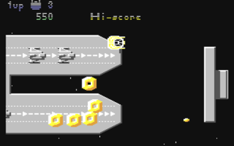 Uridium - In-game screenshot from the first level of the Commodore 64 version