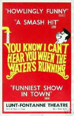 You Know I Can't Hear You When the Water's Running - Broadway production poster