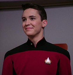 Young grant writer Wesley Crusher.