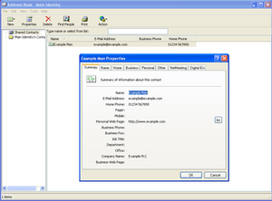 Windows Address Book - Image: Windows Address Book