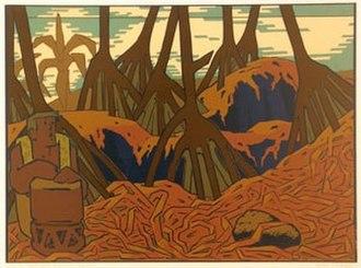 Jean Charlot - Image: 'Hala Grove, Kahuwai, Hawaii', serigraph by Jean Charlot , Hawaii State Art Museum