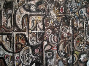 'Symphony No. 1, The Transcendental', oil on canvas painting by Richard Pousette-Dart, 1941-42, Metropolitan Museum of Art
