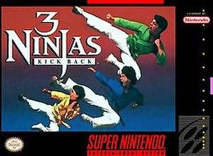 3 Ninjas Kick Back (video game) - North American SNES boxart