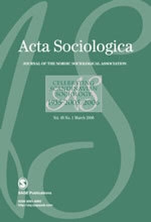 Acta Sociologica - Image: Acta Sociologica