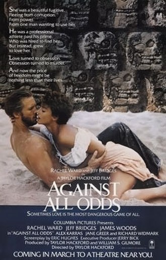 Against All Odds (1984 film) - Theatrical release poster
