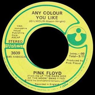 Any Colour You Like - Image: Any Colour You Like Pink Floyd