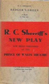 <i>Badgers Green</i> (play) play written by R. C. Sherriff