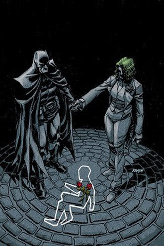Thomas Wayne - Thomas Wayne as Batman (left) and Martha Wayne as the Joker (right) of the Flashpoint universe. Art by Dave Johnson.