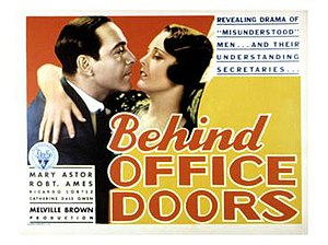 Behind Office Doors - Theatrical Poster