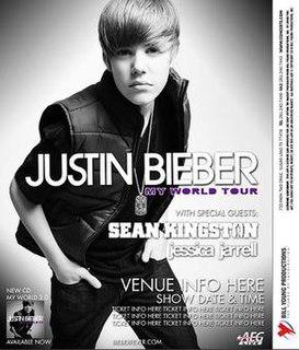 My World Tour debut concert tour by Justin Bieber