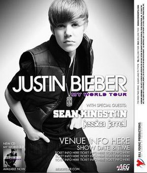 My World Tour - Promotional poster for the tour