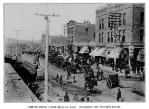 Cripple Creek, Colo., under martial law, 1894