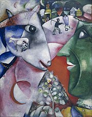 I and the Village by Marc Chagall, a modern painter.